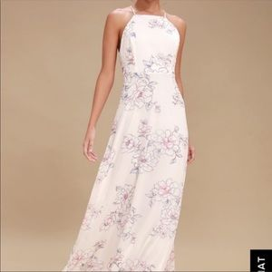 Floral blooming maxi dress